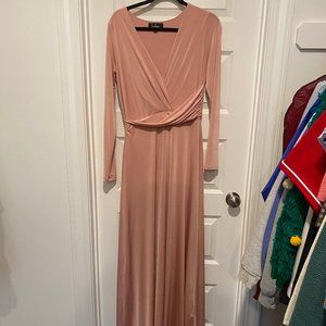 Lulus Blush Long-Sleeve Maxi Dress